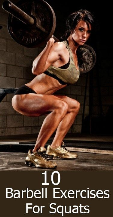 This woman ain't playin'...she looks fierce!!Top 10 Barbell Exercises For Women Squats