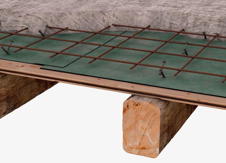 Conector estructura de madera-hormigón