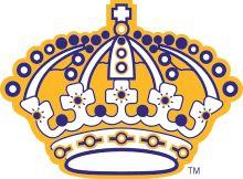 KINGS FOOTBALL Team LOGOS | Alternate LA Kings crown logo from 1967/68-1987/88, used on their ...
