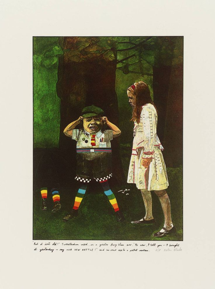 """But isn't it old!"" Tweedledum cried by Peter Blake"