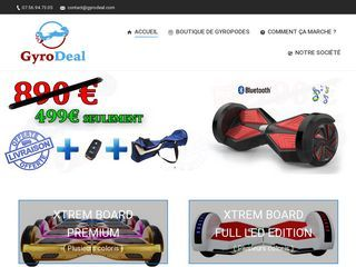 Hoverboard pas cher sur Gyrodeal
