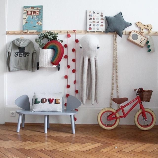 Kidsroom Scandistyle Kinderzimmer Garderobenleiste Kinder