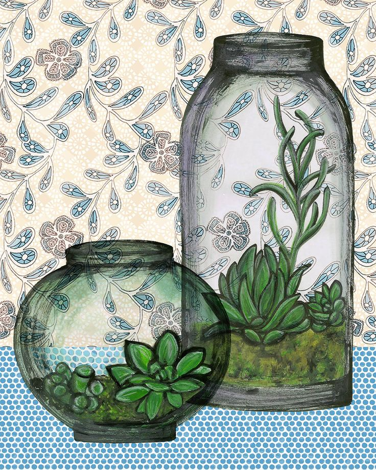 Another still life- little terrarium GTS 2014 - too many choices. Blue hues.  juliaraath.com