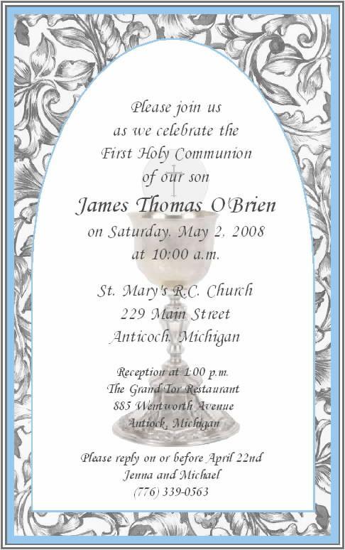 first communion invitations for boys | communion ...