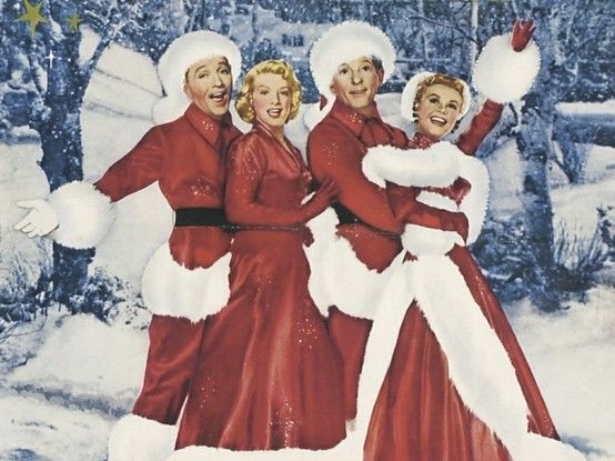 snow, snow, snow, snow! One of my Favorite movies of all time!! Holiday Inn!! This is where white christmas comes from, as well as Rosemary Clooney's Great voice (and really cute Nephew George) is wonderful as well.