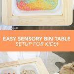 Easy Sensory Bin Table Setup for Kids