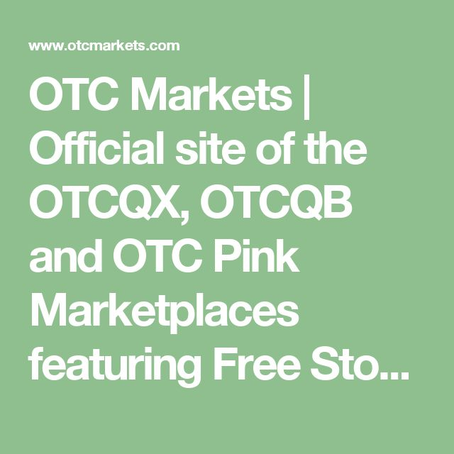 Otc Quotes Endearing The 25 Best Otc Markets Ideas On Pinterest  Small Cap Stocks Uk