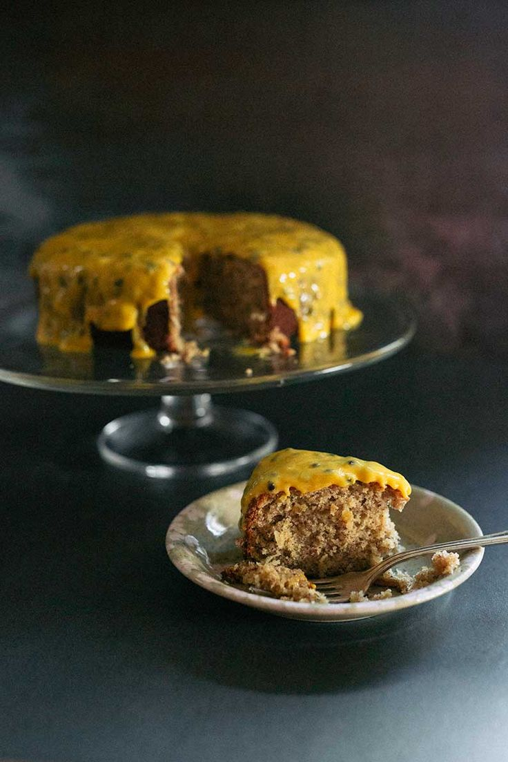 Coconut and almond cake with passionfruit lime curd | Real Food School