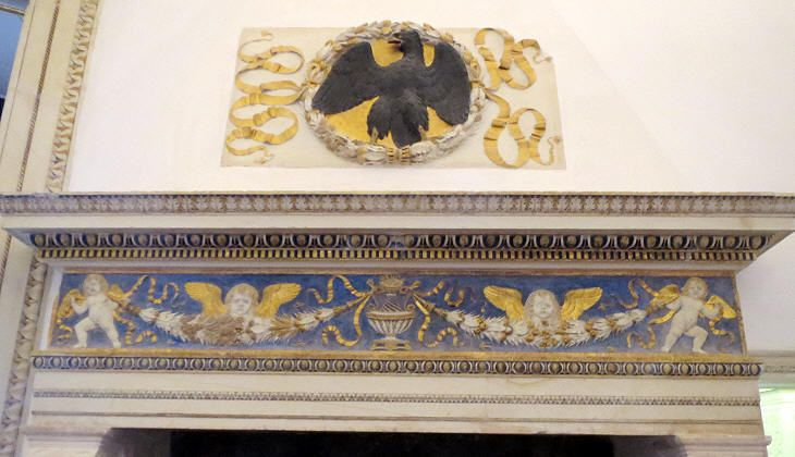http://www.romeartlover.it/Urbino A mantelpiece by Domenico Rosselli.