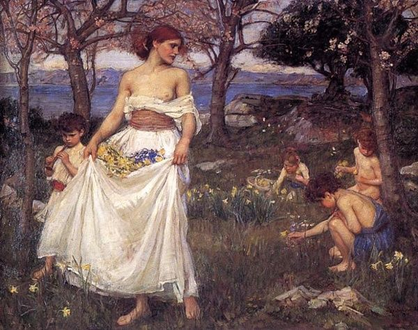 A Song of Springtime - John William Waterhouse