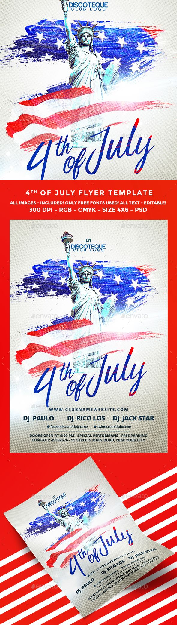 Th Of July Flyer  Patriots Liberty And Food