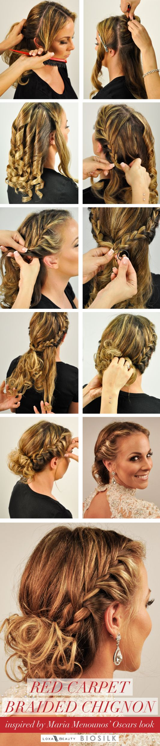 How-to: glamorous braided updo