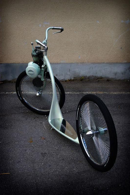 Large wheel scooter with motor