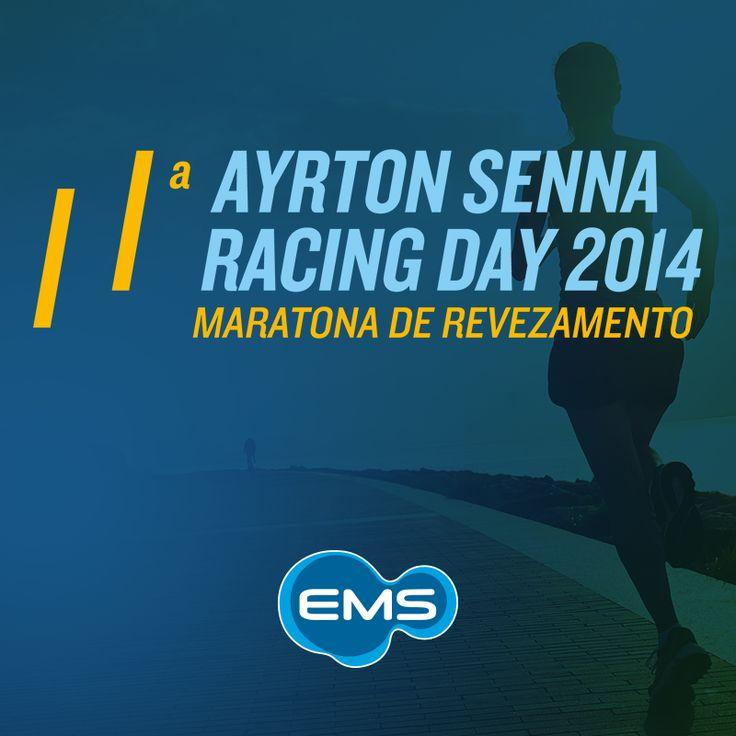 Sempre preocupada com a saúde e o bem-estar da população, a EMS patrocina neste domingo a 11ª Maratona de Revezamento AYRTON SENNA RACING DAY, uma das principais corridas de rua do calendário esportivo nacional. O valor das inscrições será 100% revertido aos projetos do Instituto Ayrton Senna. #ASRD2014