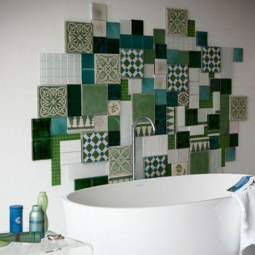 Badezimmer, Coole Fliesenspiegel Ideen Im Badezimmer   21 Stilvolle Vorschläge Sind Kreativ Badezimmer Vorschläge Design Idee Design Armatur Bad And Design Badewanne Günstig Ideen.