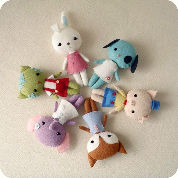 Pocket Pets pdf Pattern  You Choose Four di Gingermelon su Etsy. , via Etsy.