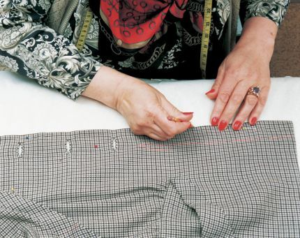 Copying complex garments ~ Even if your garment has lots of shaping and unusual pieces, making a pattern from it is straightforward - and doesn't require taking the garment apart.