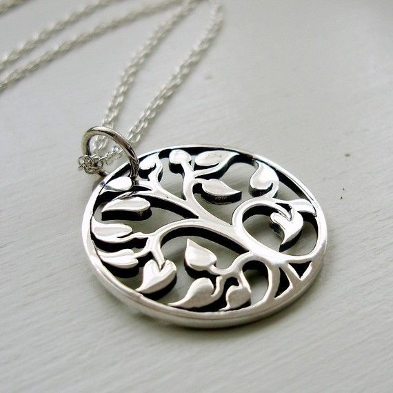 Tree of life necklace - Simple sterling silver jewelry http://artisansilvergifts.com/
