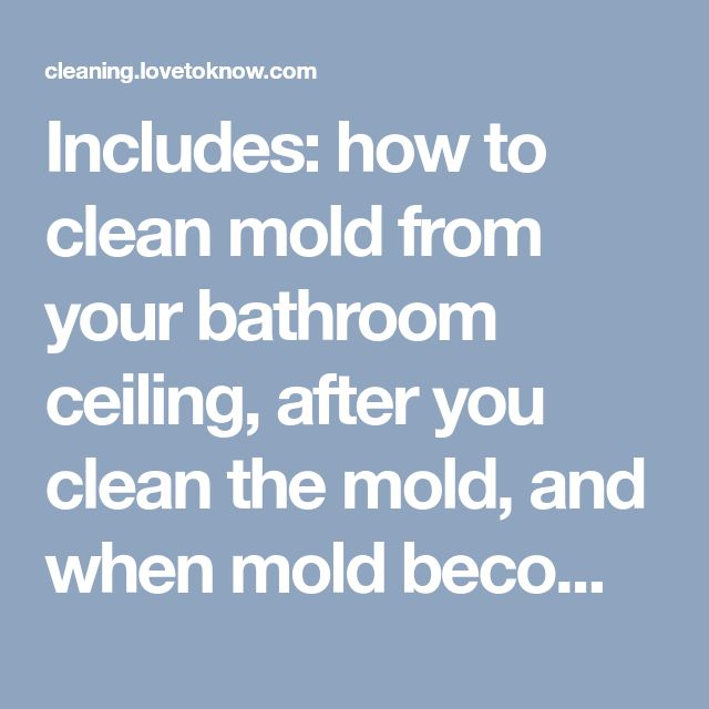 Cleaning Mold from Bathroom Ceilings Bathroom ideas Pinterest