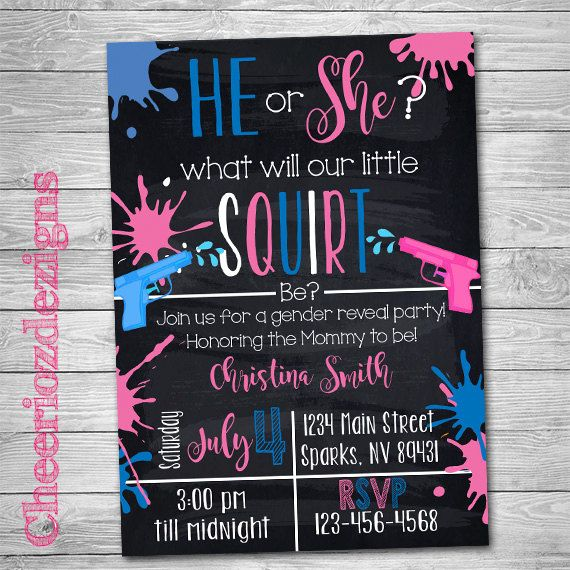 Paint Splatter Themed Gender Reveal, Splatter Paint, color gender reveal, Invitation Pink or Blue, Boy or Girl? by CheeriozDezigns on Etsy
