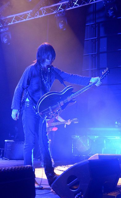 """Frankie """"Teardrop"""" Emerson, THE BRIAN JONESTOWN MASSACRE, Live in Nimes, This Is Not A Love Song festival,  May 29th, 2014  Pic by Pierre Priot / SDEP.com"""