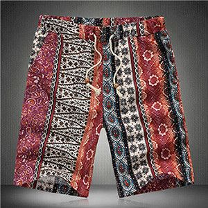 Muscle4 Big Bear Men's Plus Size Multicultural Bohemian Board Shorts