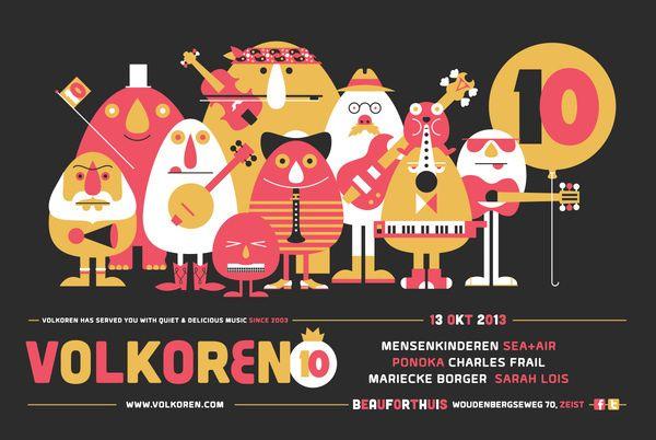 Volkoren14 #graphic design #music #flyer #characters