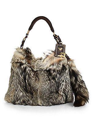 Prada Fox Fur Hobo Bag. Just know I like you!!  Please
