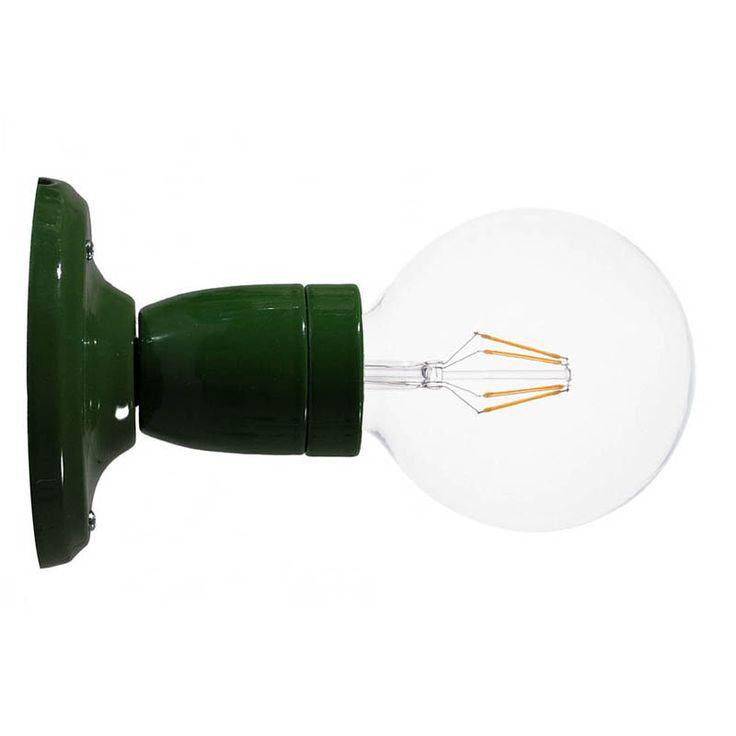 Comprar   Lámpara zócalo porcelana pared o techo verde   Lámparas Acabadas  #lamparas #decoracion #iluminacion #accesorioslamparas #lamparasoriginales #accesoriosiluminacion