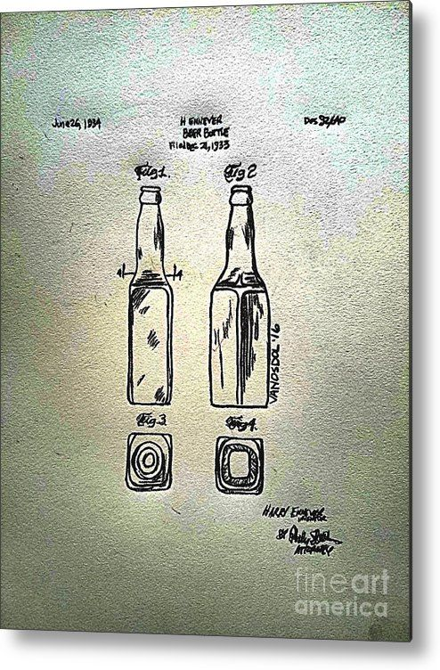 1933 Beer Bottle Patent Graphite Pencil Sketched Art from ...