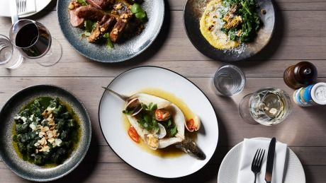Dishes from Osteria Ilaria, due to open on May 15