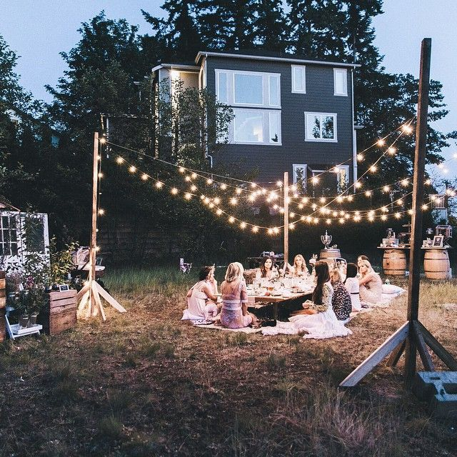 Ideas For Backyard Parties: 1000+ Ideas About Backyard Party Lighting On Pinterest