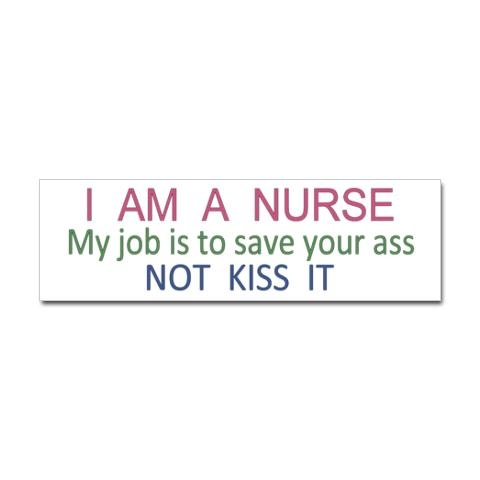 I have this on my locker @ work! I work just as hard for any & all of my patients.