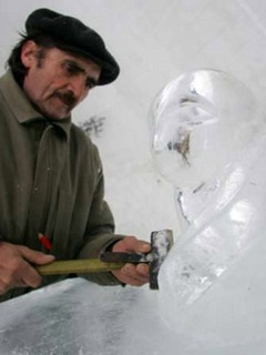 Constructing The Ice Hotel, Romania