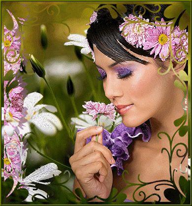 Bajo la influencia del aroma de las flores ...