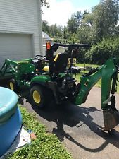 JOHN DEERE 1025R 4WD TRACTOR LOADER BACKHOE HYDRO 2014 W/ 185 hours No reserve backhoe loader financing apply now www.bncfin.com/apply
