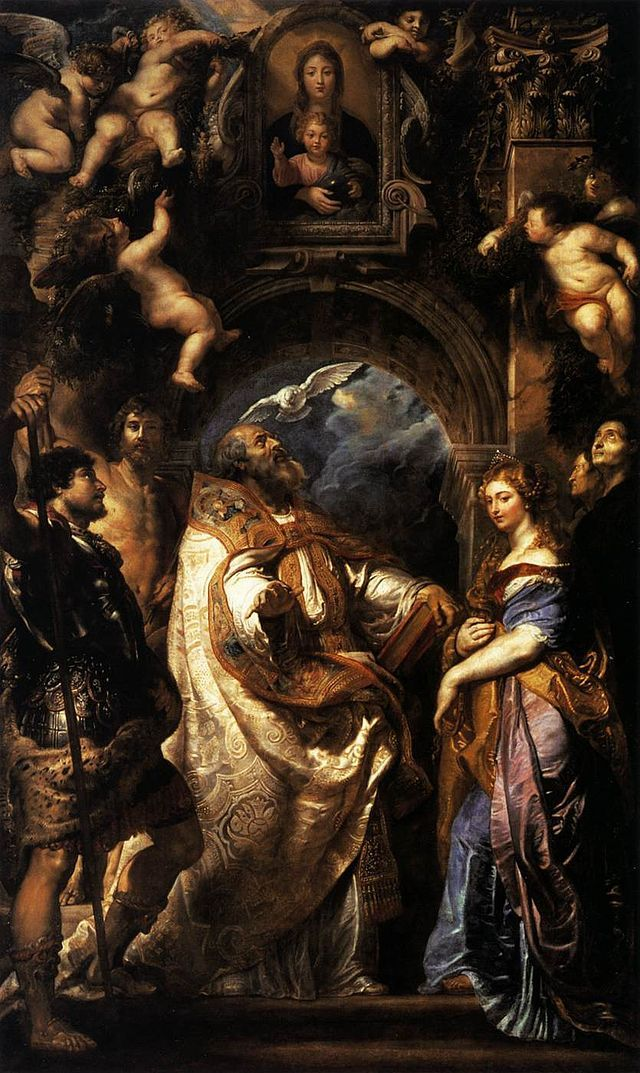 First version by Rubens for the main altar. Oil on canvas. Rejected. St. Gregory. Musée de Grenoble.