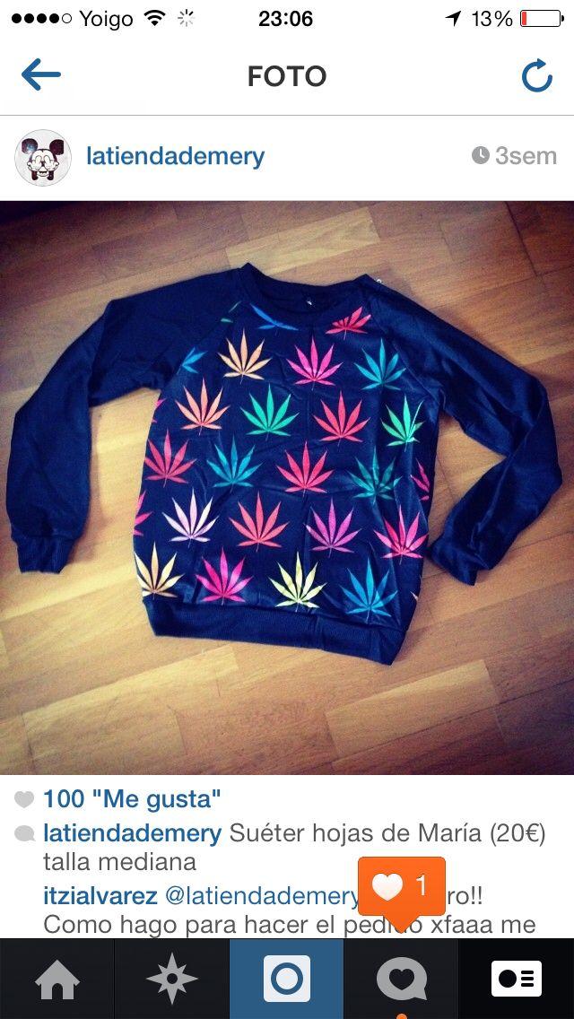 Sudadera hojas de marihuana 20€ talla M