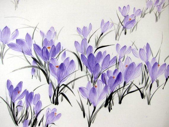 Ink Painting Japanese art Asian painting Suibokuga by Suibokuga