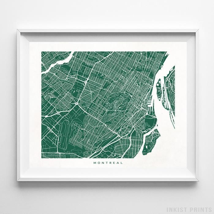Montreal Canada Street Map Wall Decor Poster