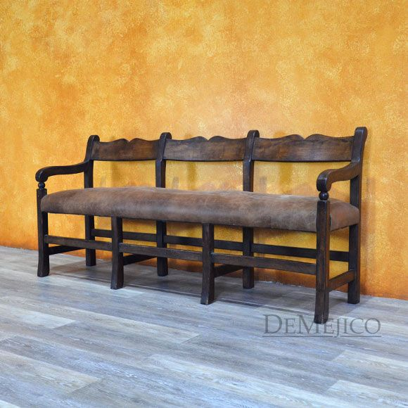 An Upholstered Spanish Bench, The Banca Circa Is A Traditional Spanish  Design That Brings Beauty