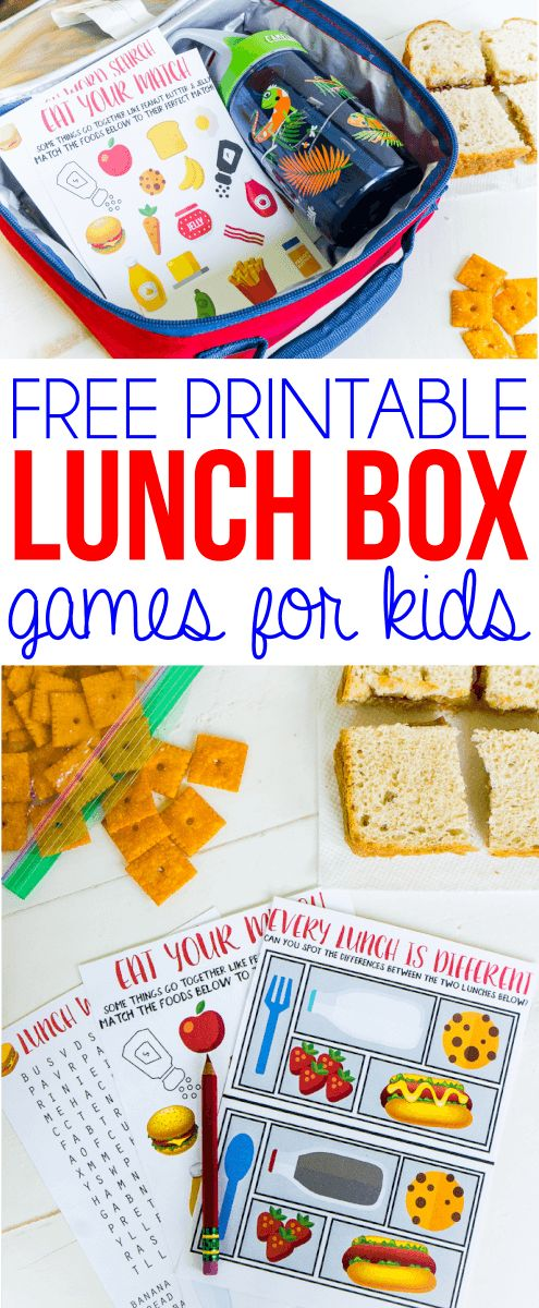 Forget the jokes in your kids lunch box this school year and send these printable lunch box games instead! They're cute, fun for toddler age and older, and fit perfectly in a lunch box or bag! Your kids will think you're the best mom ever if you send these notes! Sponsored