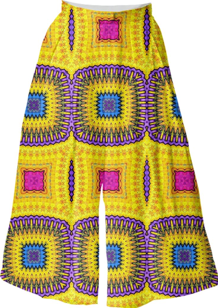 VP CULOTTE with ethnic pattern from Print All Over Me