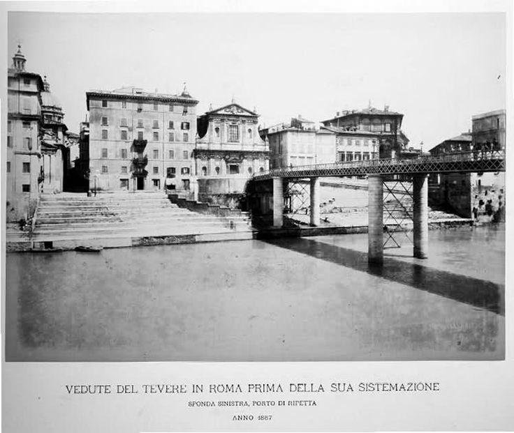 ponte di ferro provvisorio al porto di ripetta