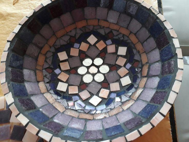 Cuenco venecitas técnica mosaico