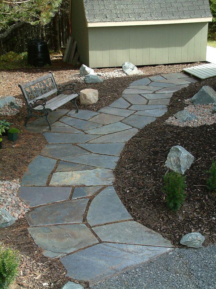 Best 25 slate walkway ideas on pinterest slate patio for Stone pathway design ideas