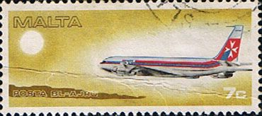 Malta 1978 Air Malta Fine Used                    SG 606 Scott C10 Other European and British Commonwealth Stamps HERE!