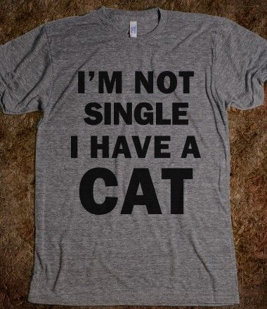 I'm not single, I have a cat!