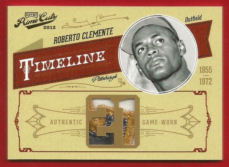 2012 Prime Cuts ROBERTO CLEMENTE 3 Color Patch 2/10 Pirates Games Worn