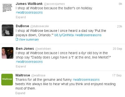 #Waitrosereasons social media campaign - success or social media fail?